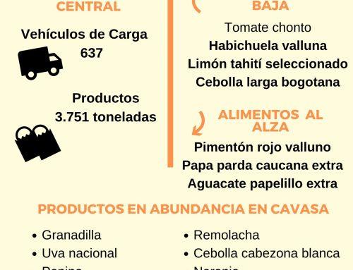 Volúmenes ingresados de alimentos CAVASA Oct 06 -2019