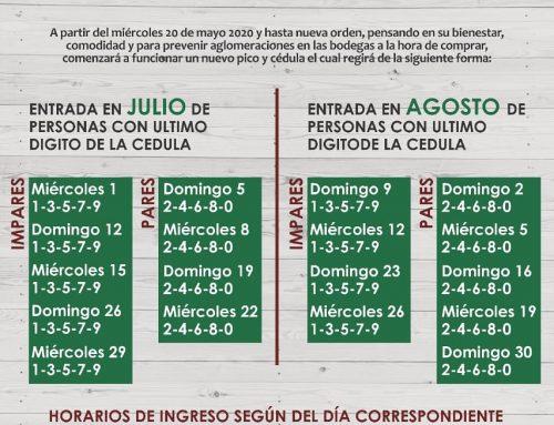Pico y cédula julio y agosto para Amas de casa en Cavasa