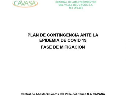PLAN DE CONTINGENCIA CAVASA ANTE LA EPIDEMIA DE COVID 19 FASE DE MITIGACION