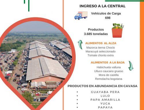 Volúmenes ingresados de alimentos CAVASA Octubre 14-2020