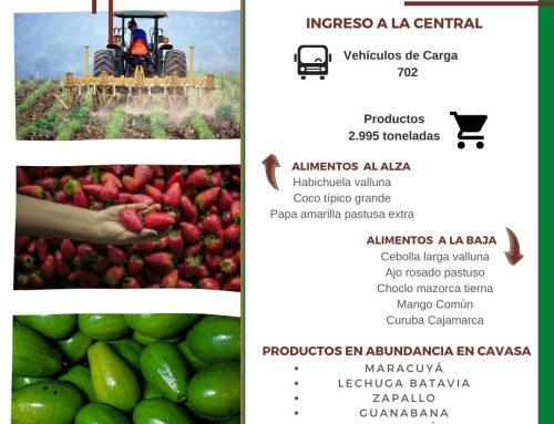 Volúmenes ingresados de alimentos CAVASA Noviembre 04-2020