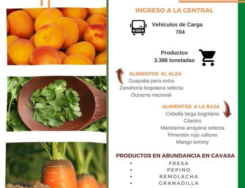 Volúmenes ingresados de alimentos CAVASA Noviembre 25-2020