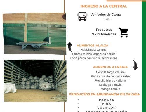 Volúmenes ingresados de alimentos CAVASA 24 Febrero-2021